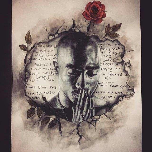 Tupac Art Tupac 2pac Tupac Art Tupac Shakur Tupac Tattoo