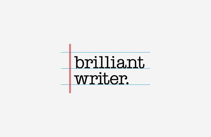 Brilliant Writer | copywriter branding | The Design Attic
