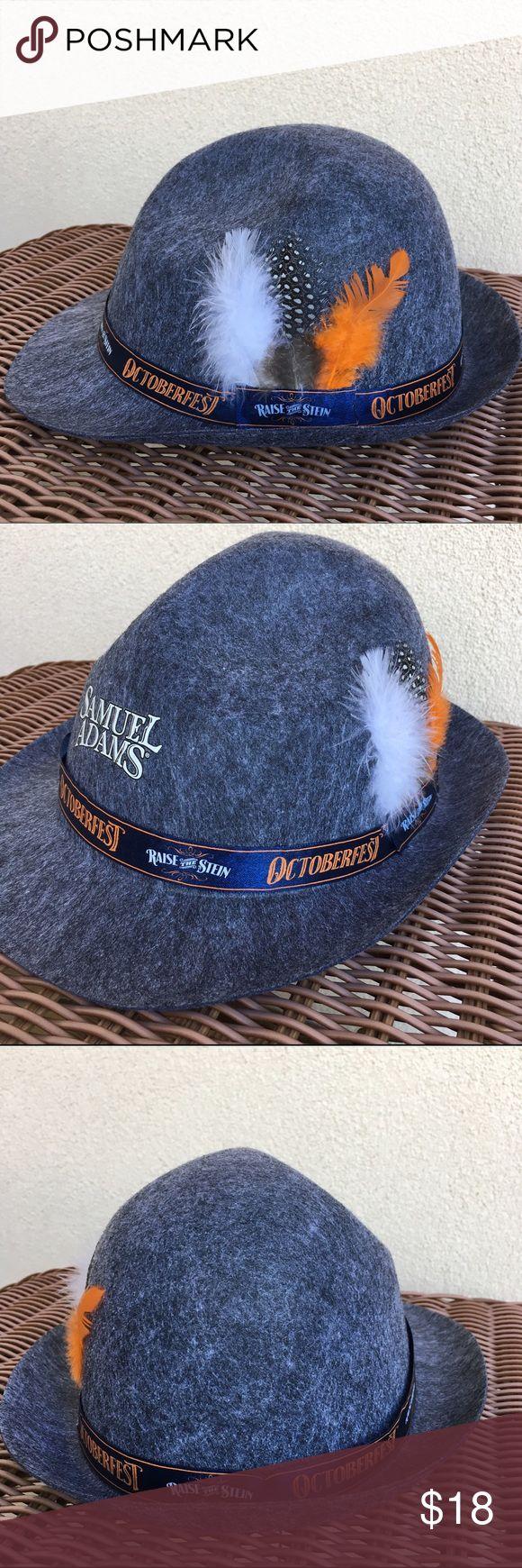 NEW Octoberfest Gray Fedora Hat Brand new. Gray fedora hat. Unisex Samuel Adams Accessories Hats