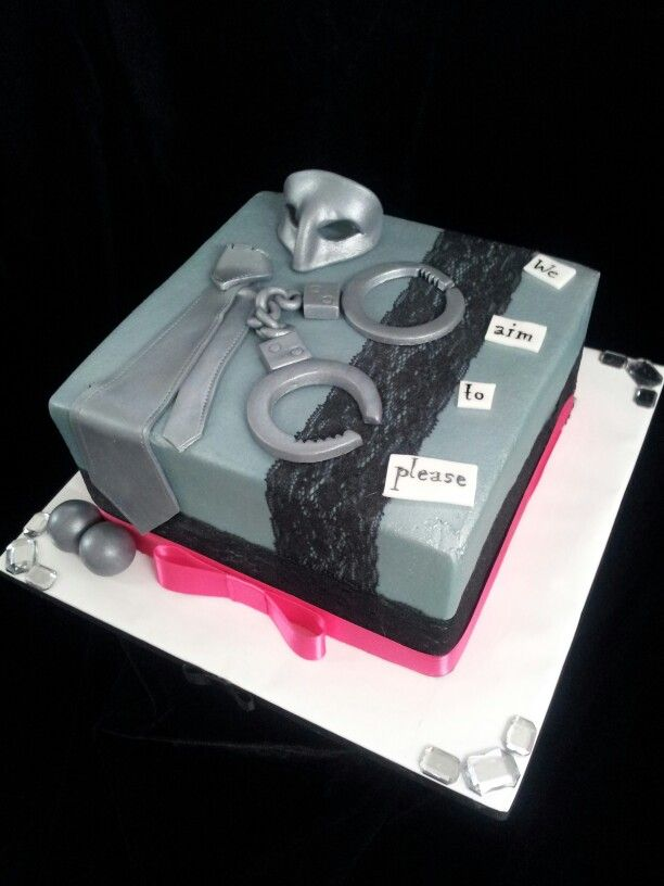 Fifty shades of grey cake