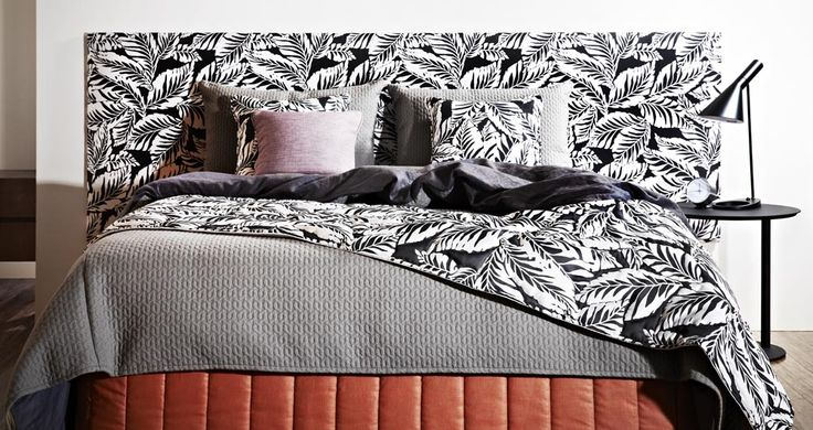 Bedroom setting by 2014 RMIT Soft Furnishing Award winning entry by Laura Green. Bedding manufactured by BQ Design and fabrics kindly supplied by Zepel Fabrics.
