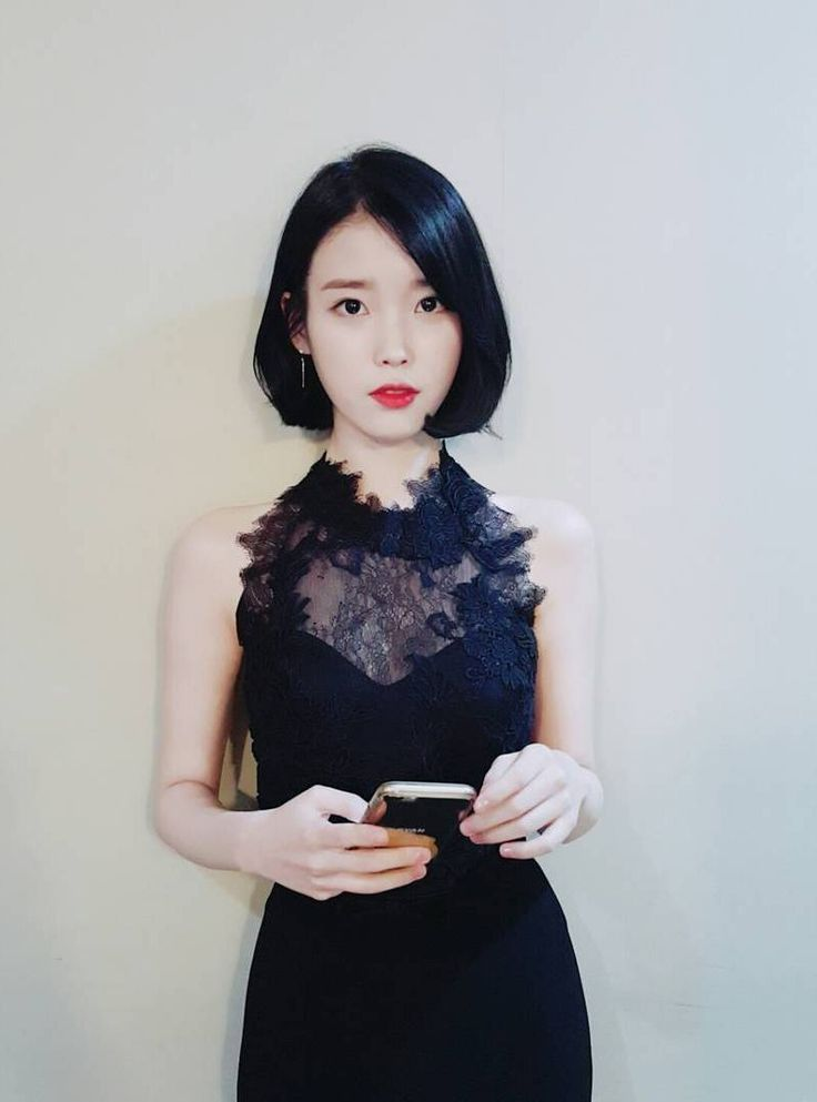 IU gorgeous black dress - IU Lee Ji Eun (이지은)(李智恩)- FAN CLUB