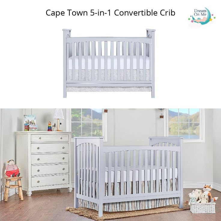 Cape Town 5 In 1 Convertible Crib Cribs Convertible Crib Full Size Bed