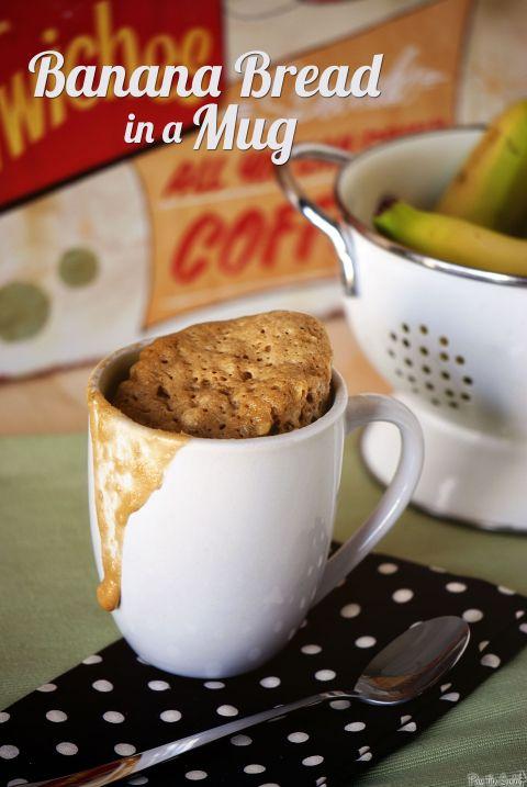 Banana Bread in a Mug : passthesushi