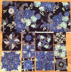 Одеяло Моменты 4-Patch калейдоскопы Imperial Синий