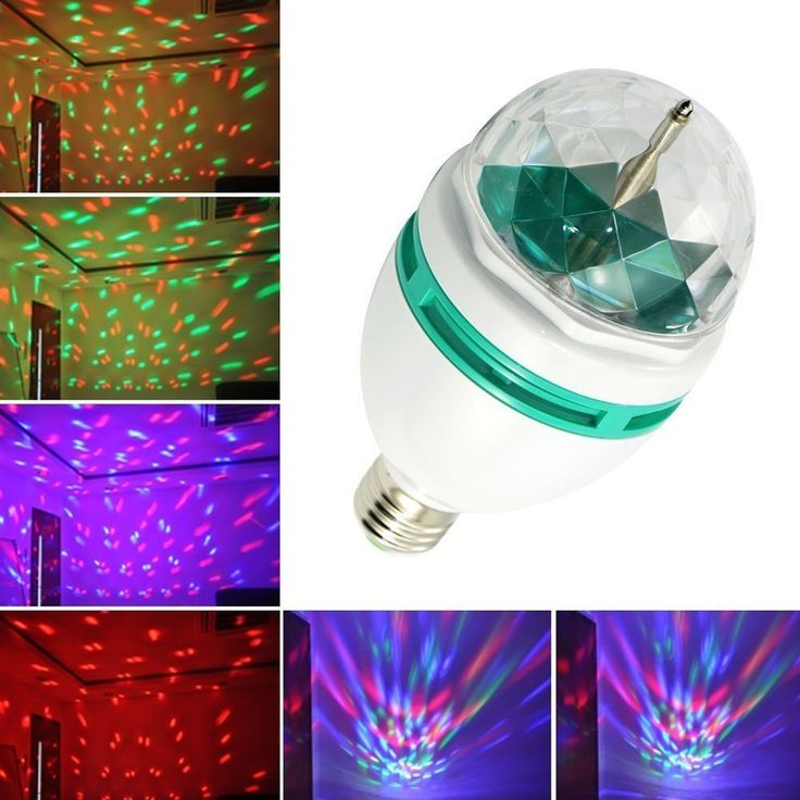 Generic rgb crystal ball effect light led rotating stage lighting for disco dj party i actually have this and recommend it