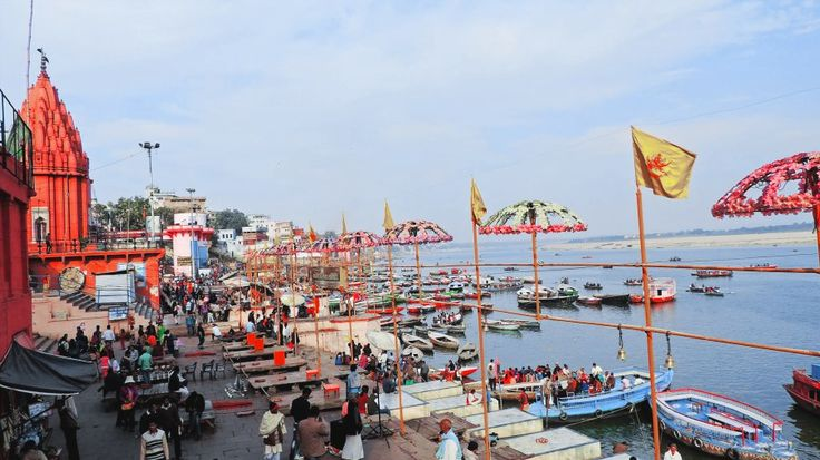The ever busy ghats of Varanasi