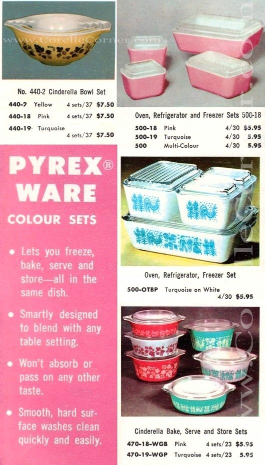 1960 Pyrex Retail Catalogue (Part 2) *****Including replacement offer, Colour sets, & Price Guide