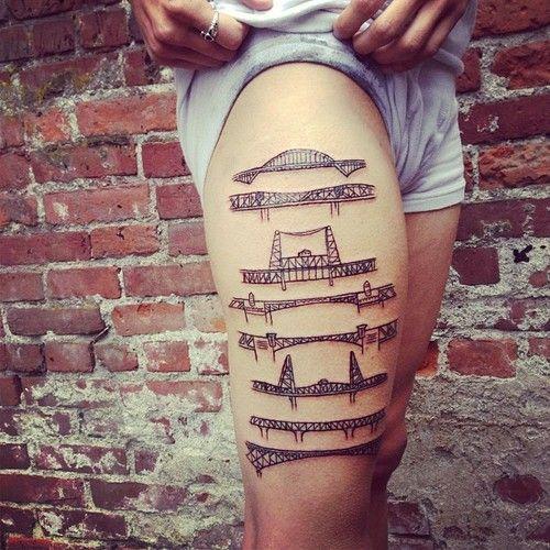 portland bridge tattoo - Google Search