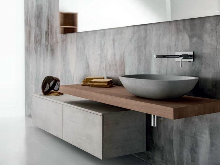 Hängender Waschtischunterschrank aus Holz mit Schubladen VIA VENETO | Waschtischunterschrank - FALPER