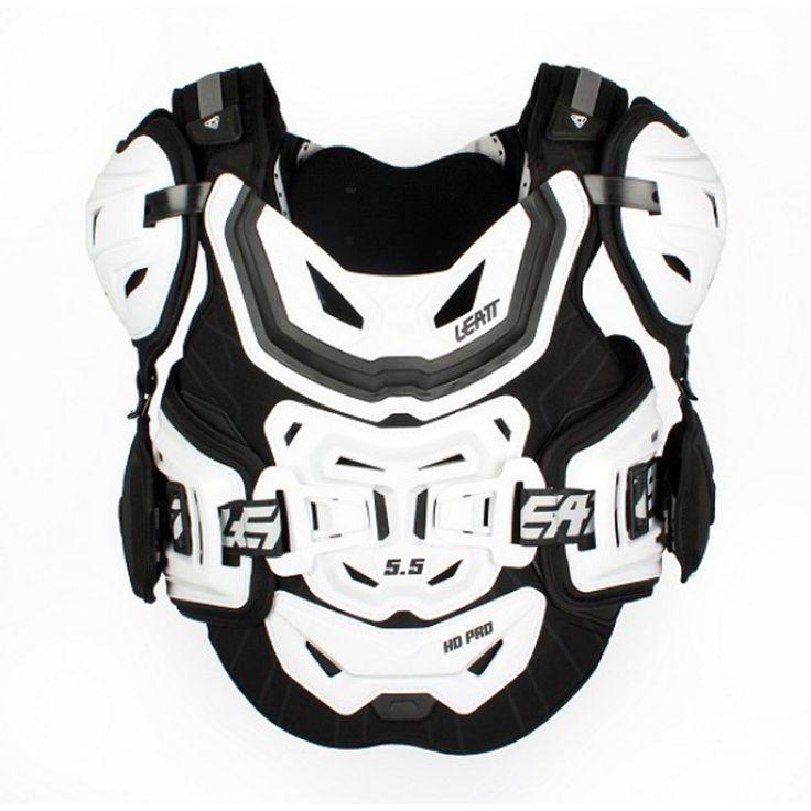 2014 Leatt 5 5 Chest Protector Pro Hd - White Black - 2014 Leatt Body Protection - 2014 Motocross Gear - by Leatt - 2014 Leatt