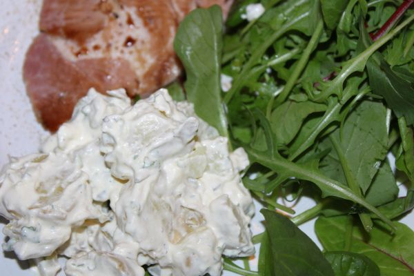 Enkel potetsalat til koldtbord og middag. (kjerstisandnes)