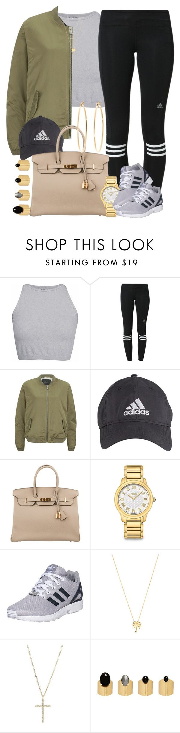 """Adidas from her head to her toes "" by livelifefreelyy ❤ liked on Polyvore featuring Free People, adidas, Maison Scotch, Hermès, Fendi, Joolz by Martha Calvo, Michael Kors, Ela Stone and Brooks Brothers"