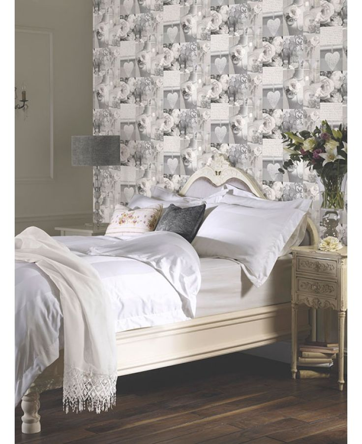 Charlotte Floral Wallpaper   Grey   665202 Arthouse. Shabby Chic ...