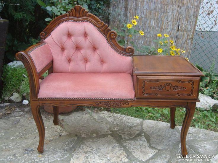 Barokk telefonasztalka ,szófa ,65000