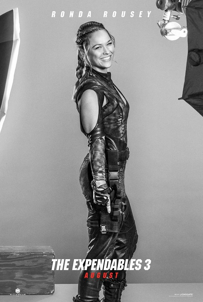 Ronda Rousey is Luna: She may be the only female member of The Expendables... but she could get every one of them to tap out. #EX3