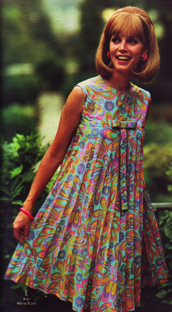 All sizes | Wards 68 ss pleated floral | Flickr - Photo Sharing!