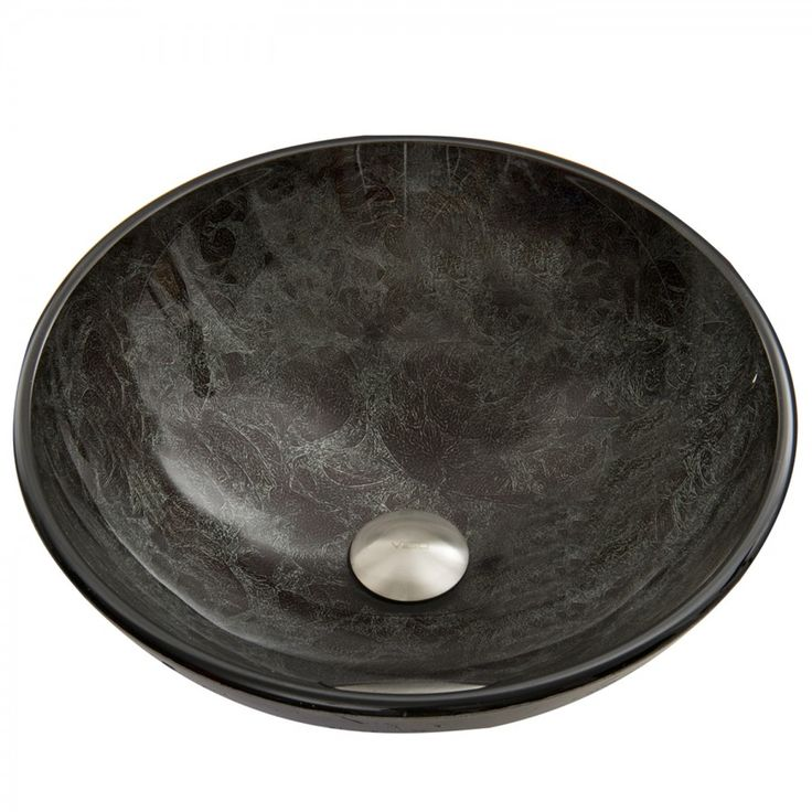 Gray Onyx Glass Vessel Sink