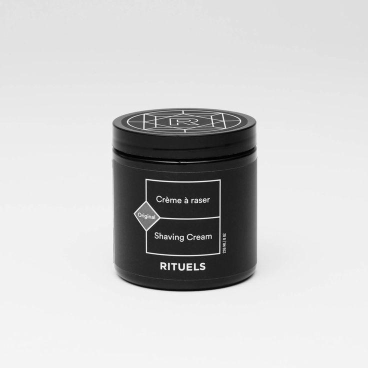 Crème à raser moussante Rituels 100% naturelle