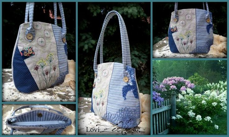 Emroidered bag with wild flowers