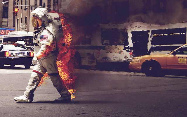 '6th Avenue' we have a problem: Inspiration, Stuff, Art, Jack O'Connell, Astronaut, Space, Photography, Fire