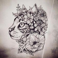 Resultado de imagen para tatoo de gatos en el costado