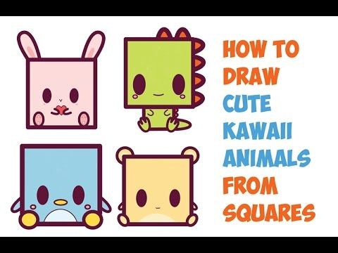 Image of: Fox How To Draw Cute Kawaii Animals From Squares Easy Step By Step Drawing Tutorial u2026 How To Draw Cute Kawaii Animals General Cuteness How To Draw Cute Kawaii Animals From Squares Easy Step By Step