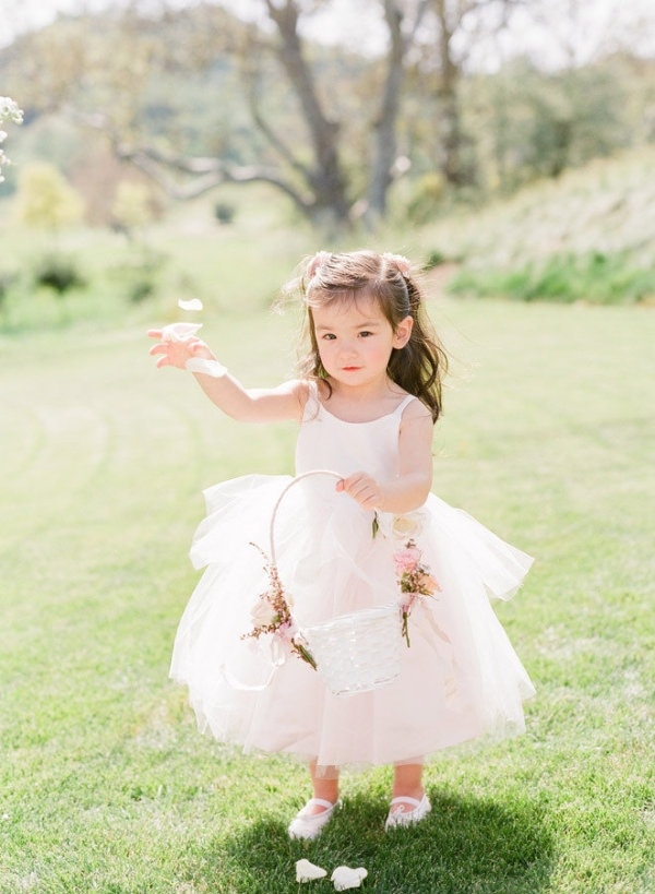 Hint of pink flower girl dress. Us Angels. Photography by austinwarnock.com,