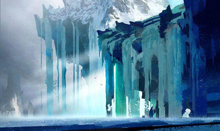 Frozen waterfall concept art when it was in the script. #httyd2