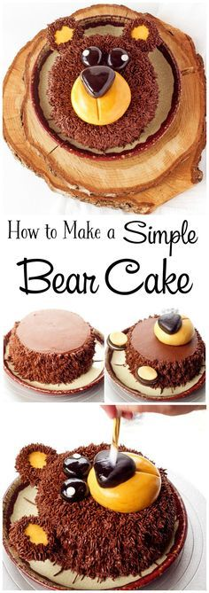How to Make a Cute Little Bear Cake with a How to Video   The Bearfoot Baker