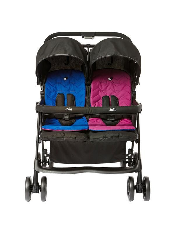 This stylish and lightweight Joie Aire Twin Stroller is the perfect fit for two. Thanks to the high quality aluminium chassis, this twin buggy weighs just 11.8kg and is sturdy enough to withstand rough roads, long journeys and active passengers!It features baby-friendly SoftTouch Harness Restraints, which are ultra soft on your children's sensitive skin while keeping them safe and secure. Independently reclining seats and multi-position leg rests will keep them feeling comfortable too.They…