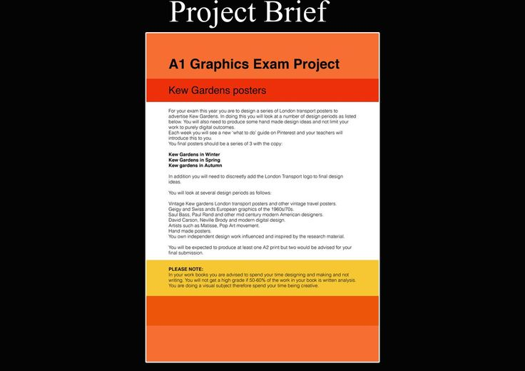 A1 Graphics, Project Brief