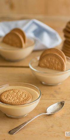 Crema de galleta maría y caramelo. Receta http://www.pinterest.com/deazulturquesa/%C3%B1ammm/