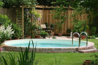 Simple Stahlwandpool Schwimmbecken Visionzon x m Haus Pinterest Ground pools Balconies and Gardens