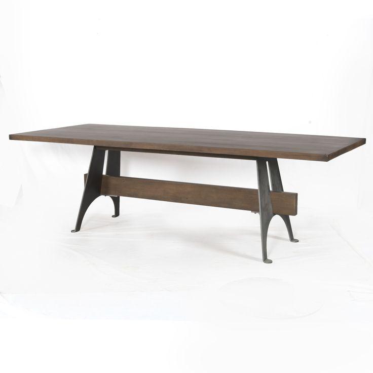 Mango Wood/Metal Dining Table