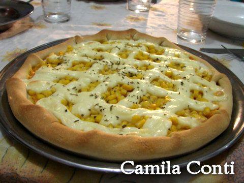 Receita postada pela Camila Conti Pizza - receita Rogério Shimura Canal Bem Simples Para massa:   Farinha de trig...