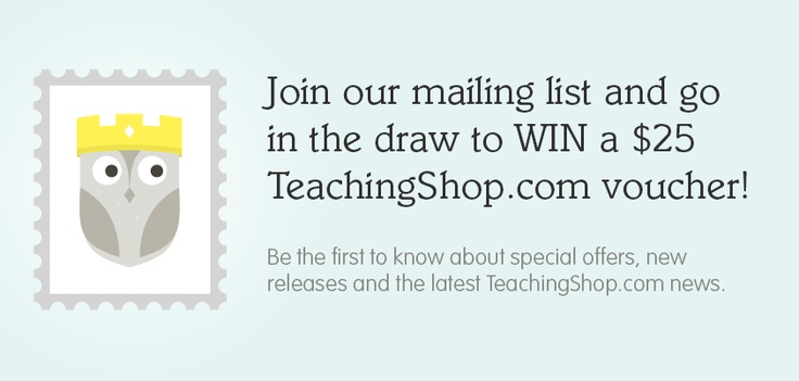 Visit our Facebook page at www.facebook.com/TeachingShop to find out how you can WIN a $25 TeachingShop.com voucher!