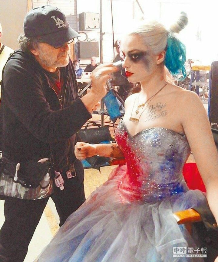 unused dress Harley Quinn. behind the scenes Suicide Squad. Margot Robbie