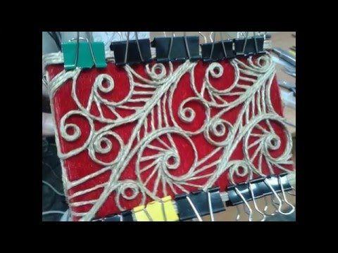 шкатулка из джута - YouTube