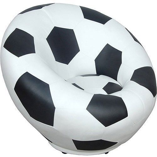 Kids Soccer Ball Swivel Chair Sports Toddlers Boys Stool
