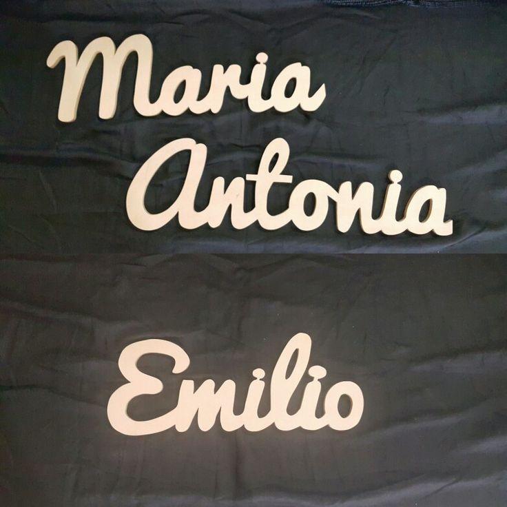 Nombres en letra cursiva/made by Lignum Artis y MDF