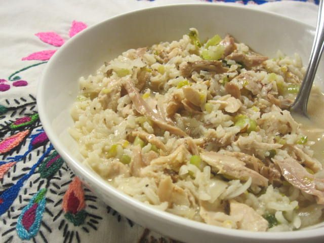how to make rice on the stove with chicken broth