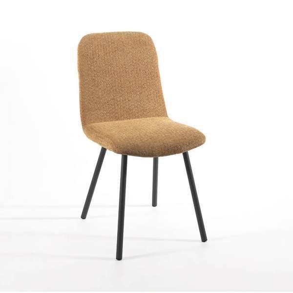 Chaise En Tissu Rembourree Et Pieds En Metal Suzy Efistu Com Decoration In 2020 Dining Chairs Decor Interior