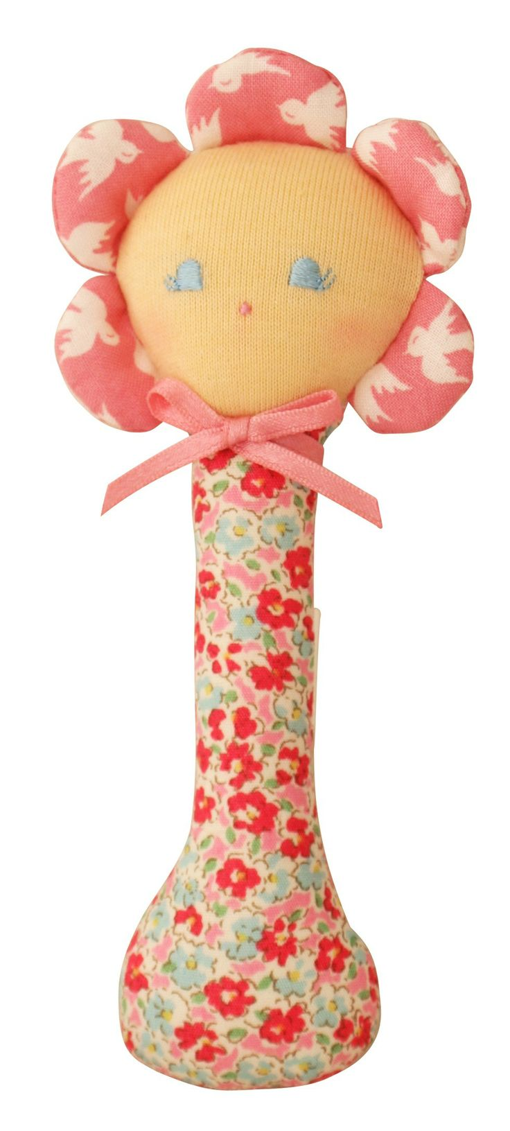 Flower Doll stick rattle available at www.motherbabystore.com.au by Alimrose Designs