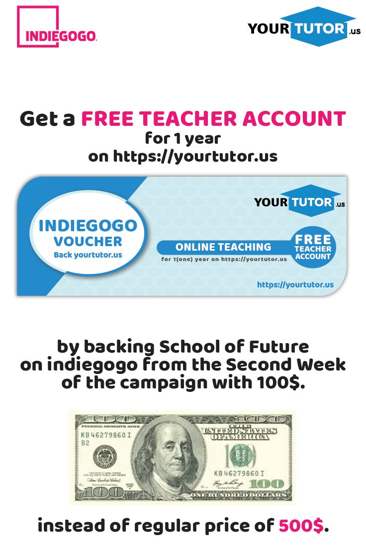 Back us with 100$ and get a FREE TEACHER ACCOUNT! #freeteacheraccount #schooloffuture #virtualclassroom