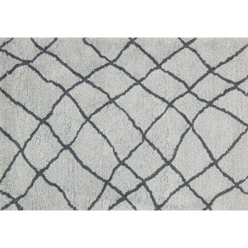 Tangier Mist and Gray Shag Rectangular: 3 Ft. 6-Inch x 5 Ft. 6-Inch Area Rug - (In No Image Available)