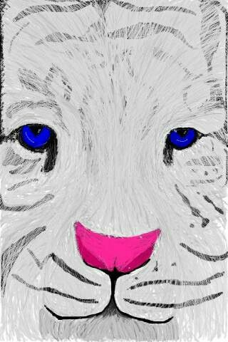 Tiger - Digital Art - Spray can - Ipod