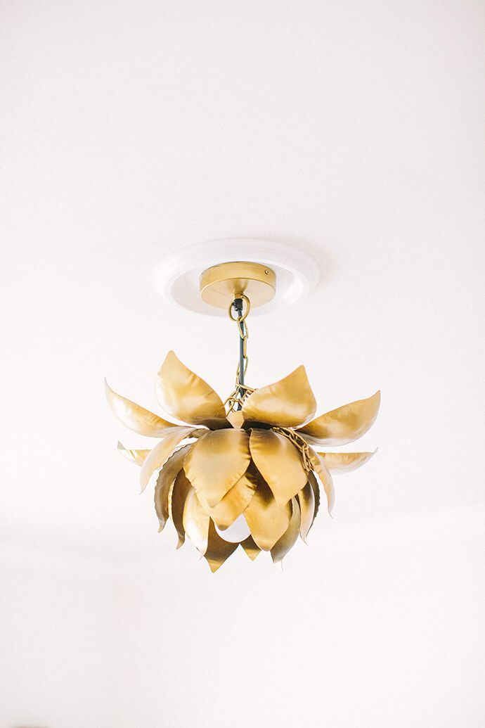 Gold lotus chandelier