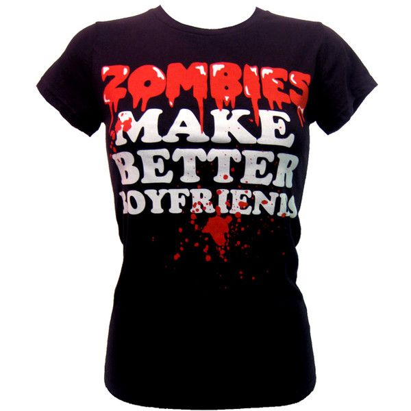 Goodie Two Sleeves Zombies Make Better T-Shirt   Gothic Clothing   Emo... ($30) ❤ liked on Polyvore