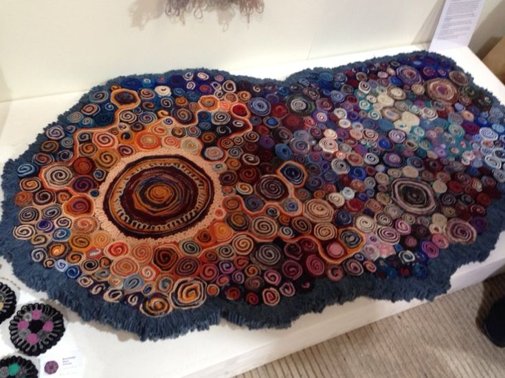 Quillie Rugs - made from woollen strips that are rolled up
